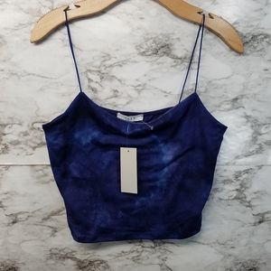 Gaze Crop Top Blue Womens L New Tank Top Sz L